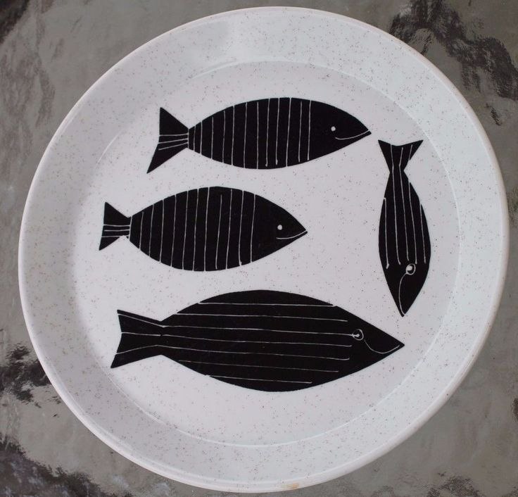 "Vera Mikasa SeaFare Fish Decorate Salad Plate - Ben Seibel Modern Design, 7 3/4"" in Pottery & Glass, Pottery & China, China & Dinnerware | eBay"