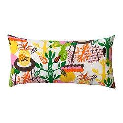 """KNAPPSÄV cushion, multicolor Length: 12 """" Width: 24 """" Filling weight: 10 oz Length: 30 cm Width: 60 cm Filling weight: 280 g"""
