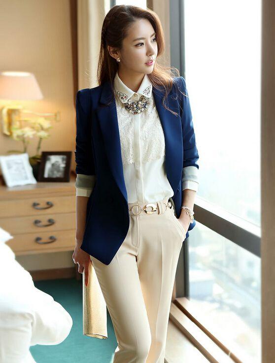 2014 Autumn Women Blazer Jacket Korean New Fashion OL Office Lady ...