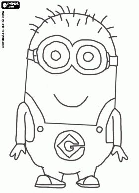 minion color pages | Despicable Me coloring pages, Despicable Me coloring book, Despicable ...