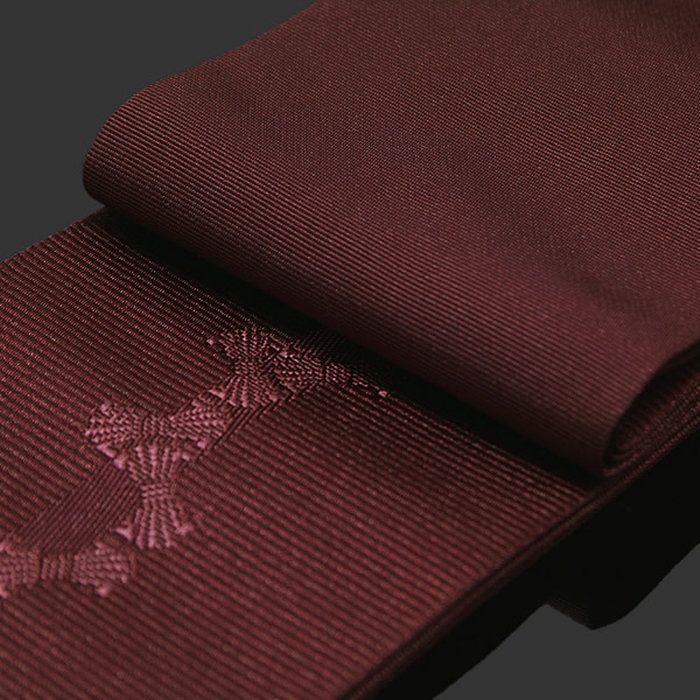 男浴衣の粋に、かっこよくキメル 角帯。角帯 男性用浴衣帯「赤紫色 束ね熨斗」京都きもの町オリジナル 男性用帯 角帯 小袋帯【メール便不可】