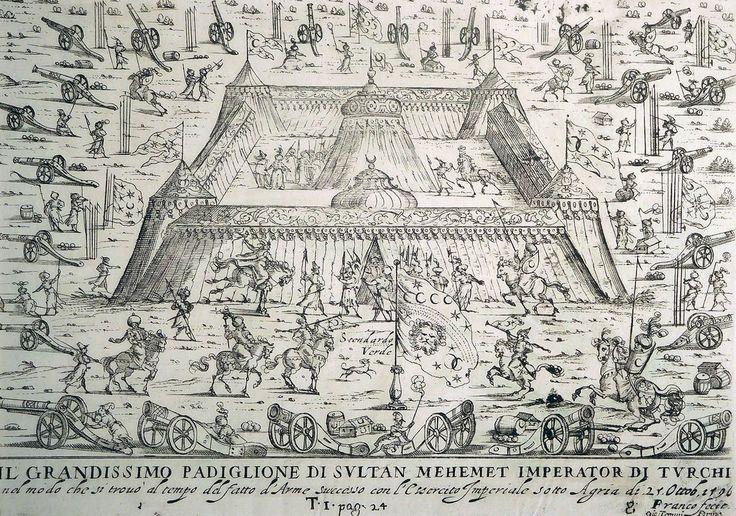 Camp of Sultan Mehmed III in Eger, Hungary, 1596 (Macaristan Eğer'de Sultan III. Mehmed'in Kampı, 1596)