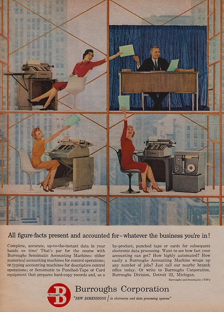 All figure-facts present and accounted for! #vintage #office #1950s #1960s #ads