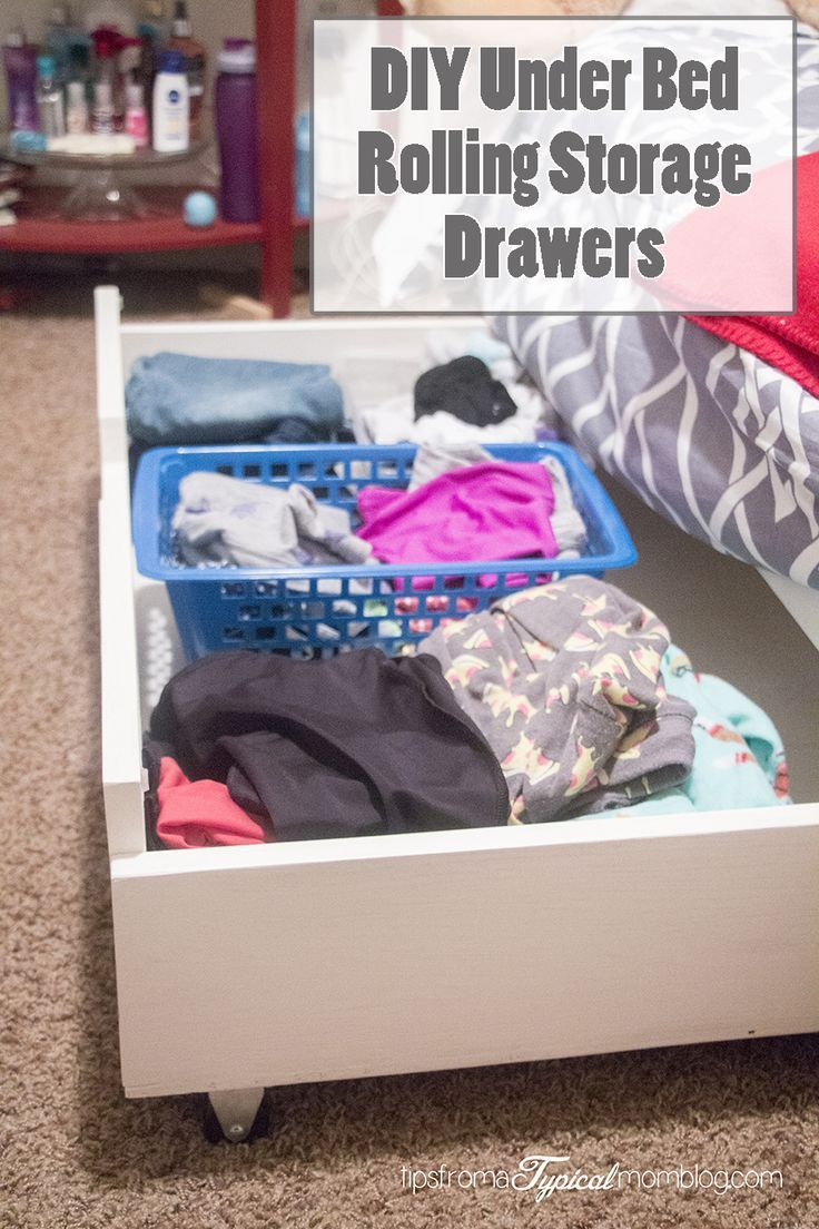 DIY Under Bed Rolling Storage Drawers. #DIY #Tutorial #StorageIdeas