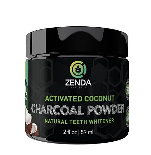 Activated Charcoal Teeth Whitening Powder - Made with Organic Coconut Active Charcoal and Bentonite Clay Tooth Whitener Formula. Use Like Toothpaste & Skip the Strips Kits and Gel!