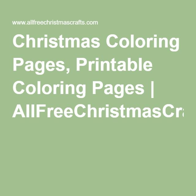 Christmas Coloring Pages, Printable Coloring Pages   AllFreeChristmasCrafts.com