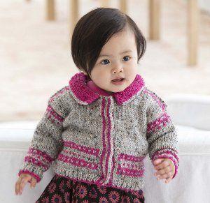 Kız bebek örgü yelek modelleri.