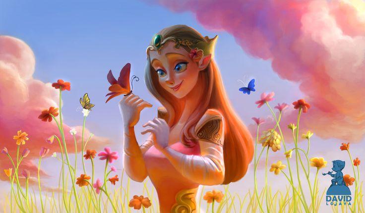 Princess Zelda, David Ardinaryas Lojaya on ArtStation at https://www.artstation.com/artwork/aW9