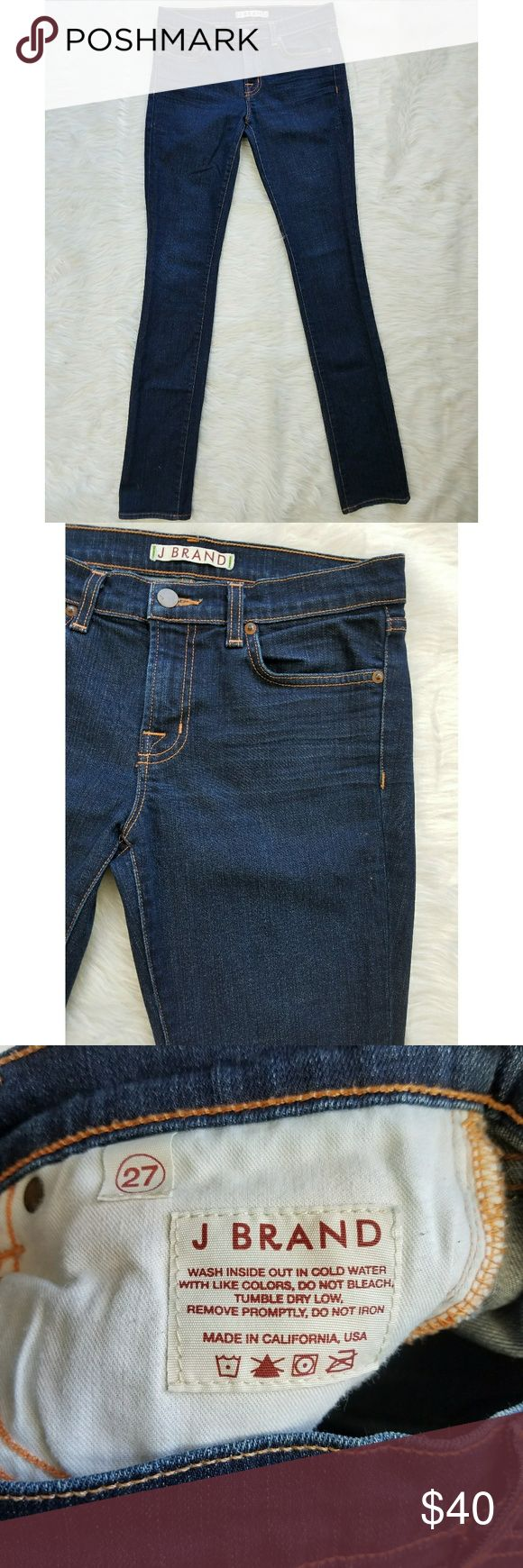 J Brand The Pencil Leg Straight Leg Jean Dark Wash Excellent condition, no stains or flaws. This brand is available at stores like Anthropologie  Reasonable offers will be considered, bundles are discounted. No trades. I can ship same or next day. J Brand Jeans Straight Leg