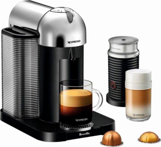 Nespresso - Vertuo Espresso Maker/Coffeemaker - Chrome   @giftryapp