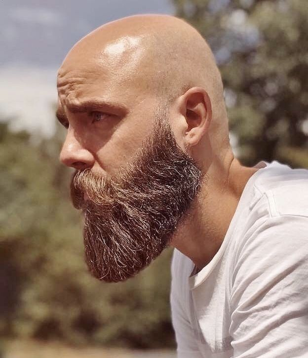 Sharp Beard Nicely Cropped Bald Men With Beards Beard Styles Bald Bald With Beard