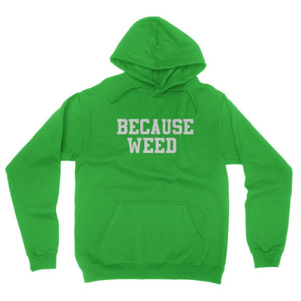 Why do you listen to music? Why do you eat? Why do you sleep? Because weed! Awesome Hoodie from Really Stupid Shirts