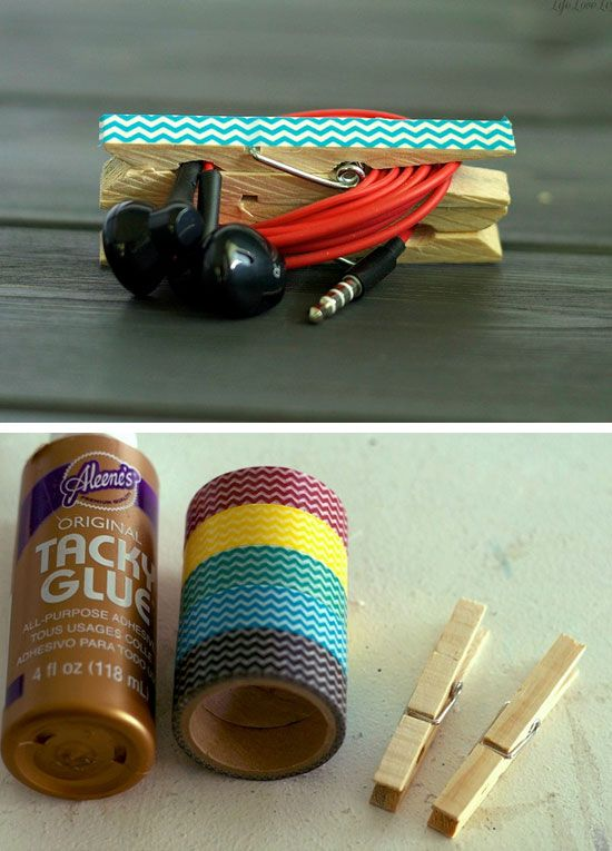 DIY Headphone Clip Organizers   23 Life Hacks Every Girl Should Know   Easy Organization Ideas for Bedrooms