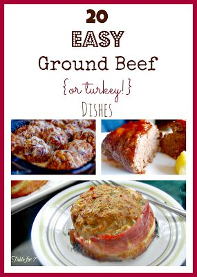 20 easy ground beef or turkey dishes things to make for Things you can make with ground beef