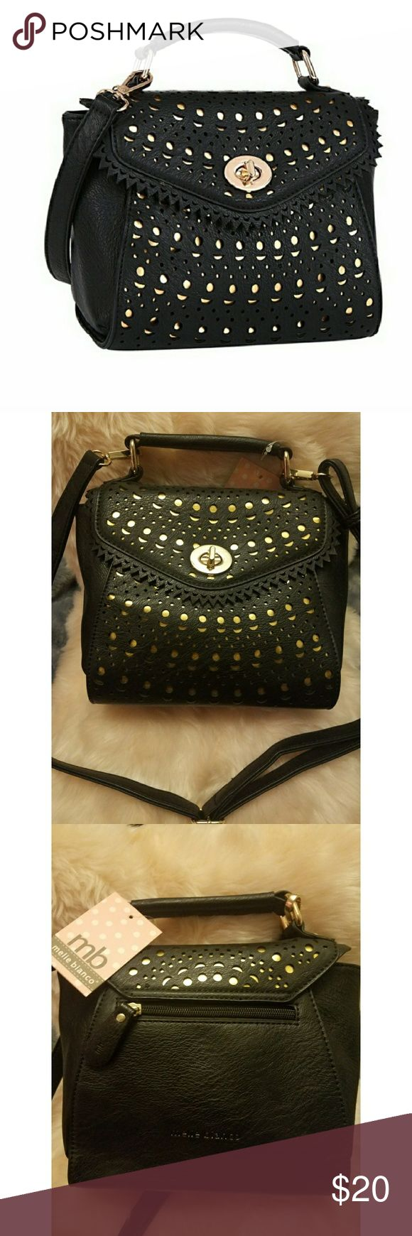 Black Melie Bianco purse Black and gold detailing Bags