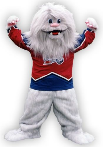 The Yeti, mascot for the Colorado Avalanche #Spectrumlearn #Mascot #Madness #Colorado