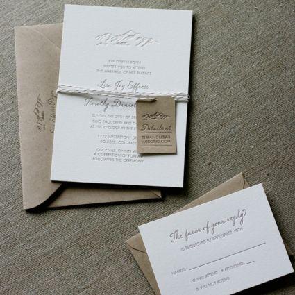 Elegant Mountain Wedding Invitation