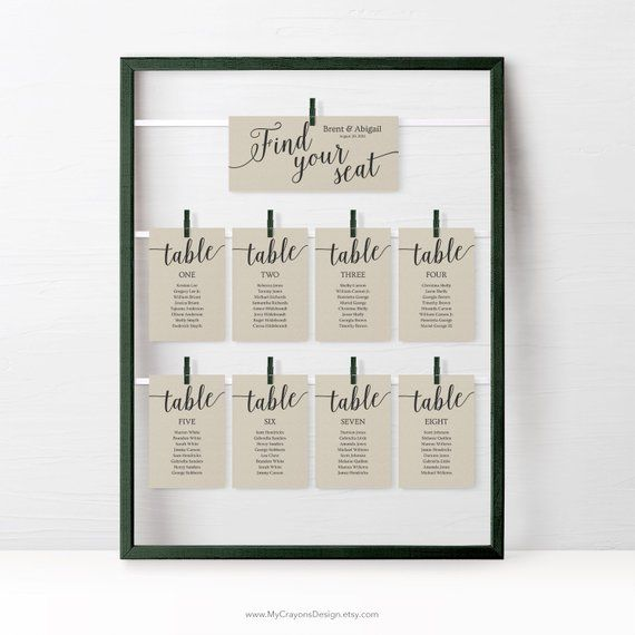 Rustic Wedding Seating Chart Cards Template Wedding Seating Etsy In 2021 Rustic Wedding Seating Seating Chart Wedding Seating Plan Wedding