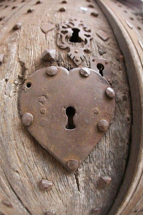 old heart shaped lock...