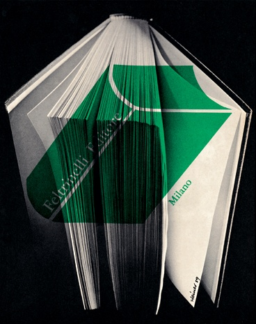 Albe Steiner - Advertisement for the publisher Feltrinelli, 1959.