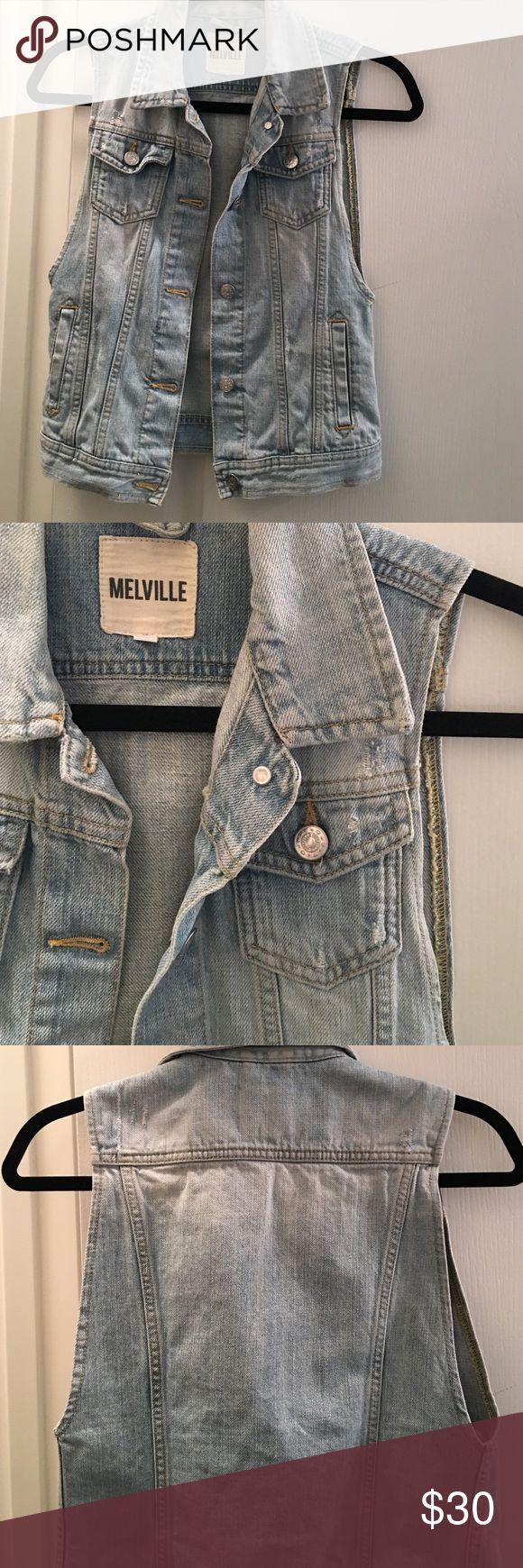 Brandy Melville denim vest Lightly worn but looks brand new. Brandy Melville Jackets & Coats Vests