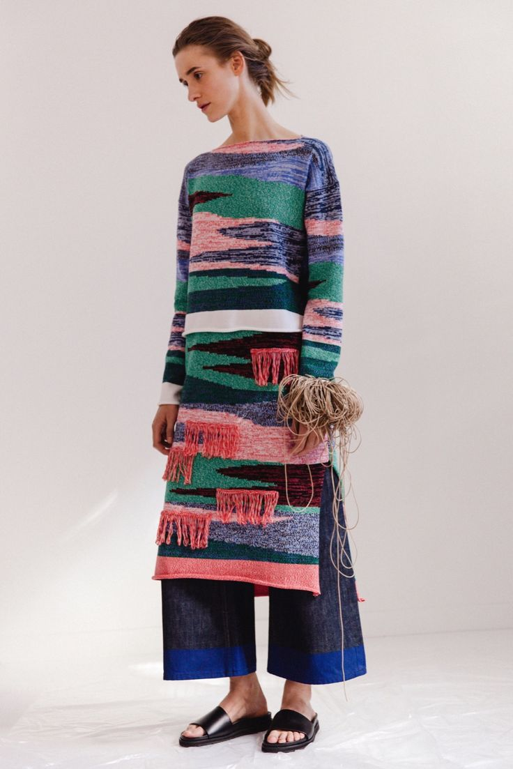 couture fashion knitwear panel dress Ports 1961 Resort 2016 - Collection - Gallery - Style.com