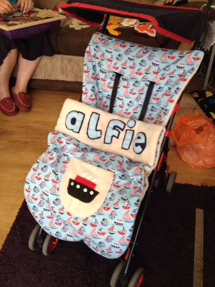Hand Made Unique Buggy Cosy £45.00 - Made with Cotton and Fleece for cooling and warmth.....Can be personalised xx