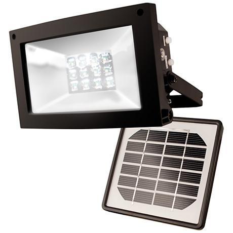 Super Bright 12-LED Dusk-Dawn Solar Powered Flood Light