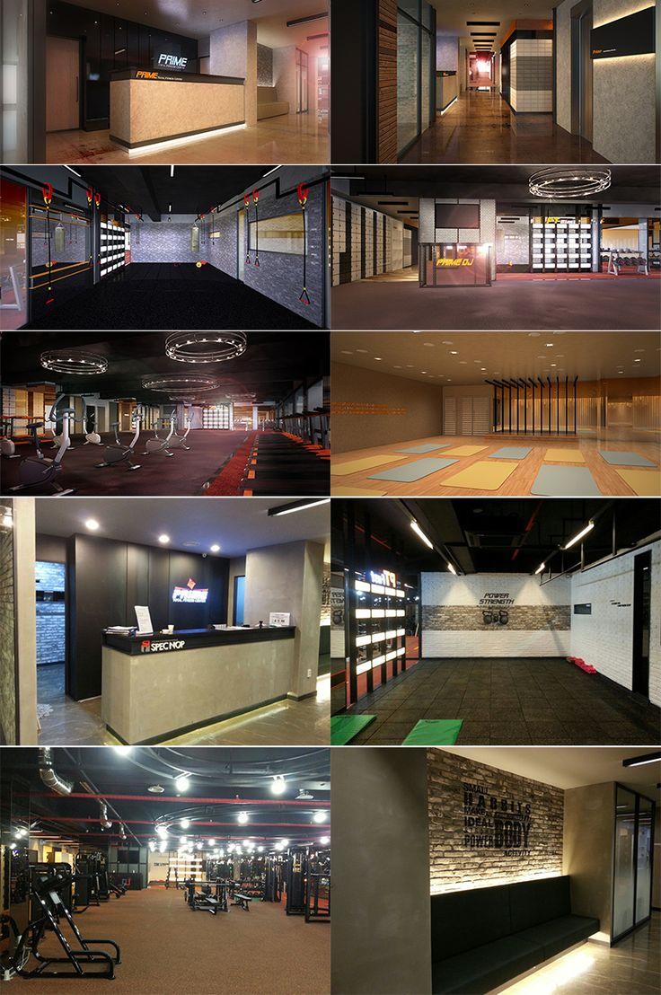 "fitness club interior Yeonsan-dong ""Primefitness"""