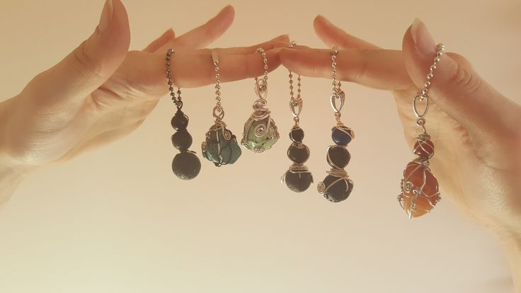 Some crystal key chains.