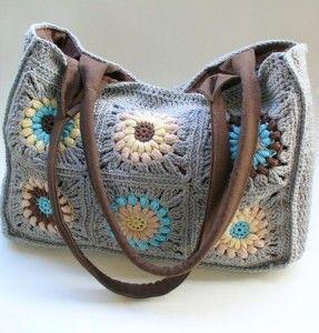 crochet granny squares bag (no pattern)