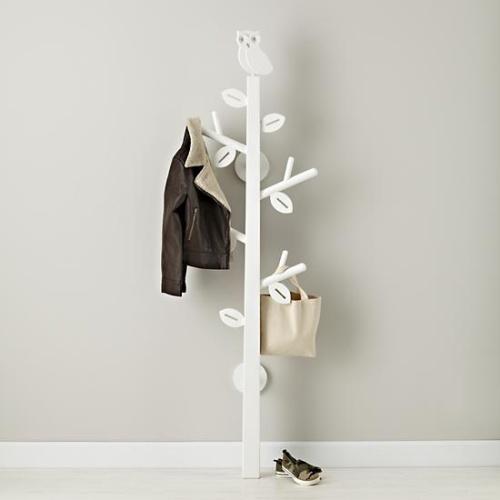 Perfect Kids Storage: Kids White Owl Clothes Tree