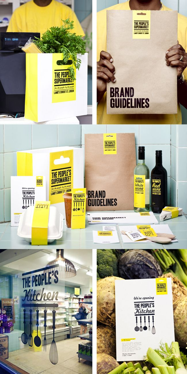 The Peoples Kitchen, what an amazing brand identity. THIS is the stuff I love, design-wise. Clean and simple.