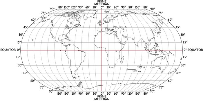 world map with latitude longitude lines Map Skills