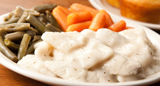 My favorite dinner: Chicken and Dumplings from Cracker Barrel. Southern comfort food at its finest!