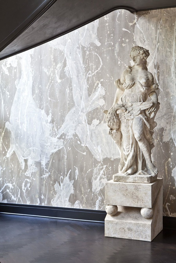 KELLY WEARSTLER | INTERIORS. Evergreen Residence, Grand Stairway statue