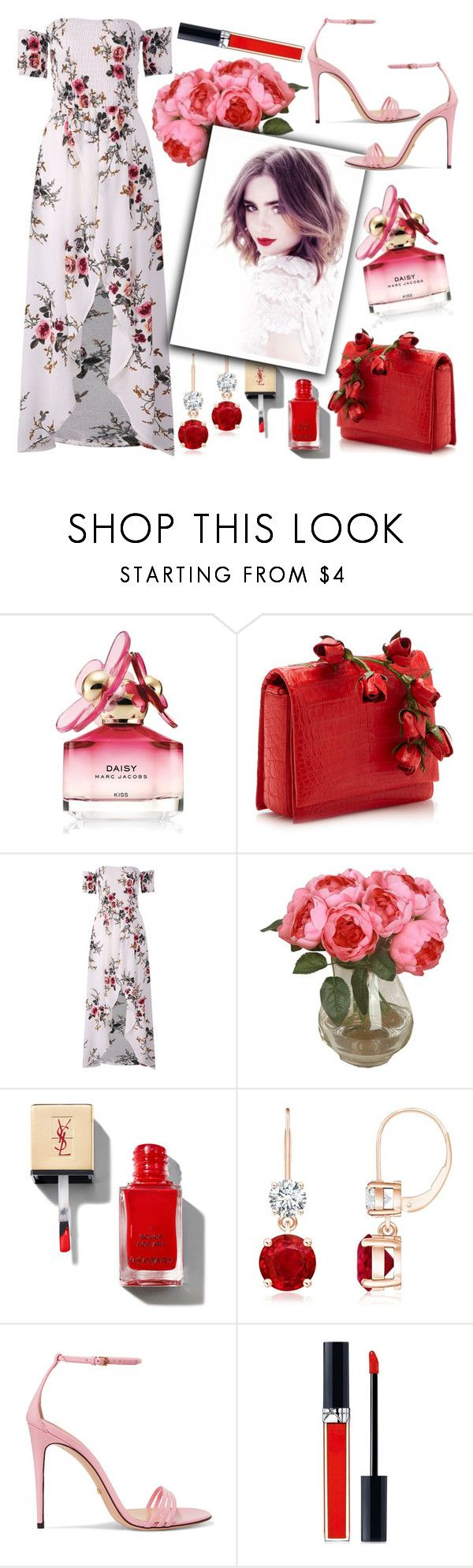 """""""Lily Collins"""" by chey-love ❤ liked on Polyvore featuring Marc Jacobs, Nancy Gonzalez, Gucci and Christian Dior"""