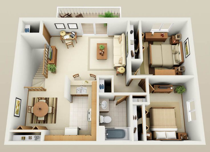 Best 25 two bedroom apartments ideas on pinterest 2 bedroom apartment floor plan two bedroom Two bedroom apartments