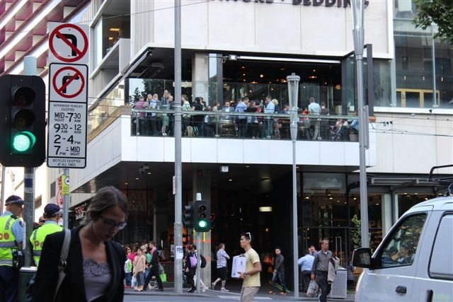 Outside View of the Fathers Office balcony from Latrobe St