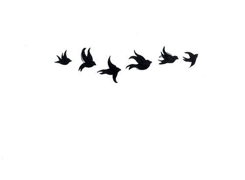 flying bird silhouette tattoo - Google Search