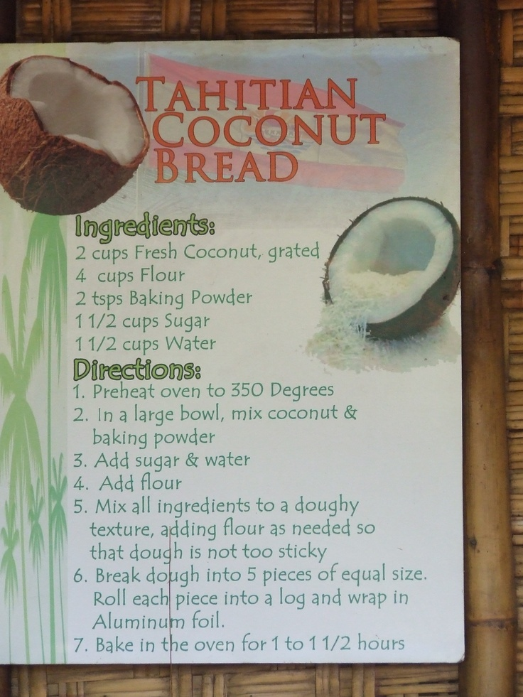 Recipe from the Polynesian Culture Center ... Easy to make!