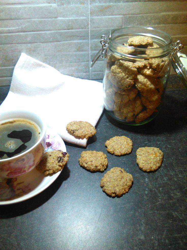 Domácí ovesné sušenky - s brusinkami a rozinkami