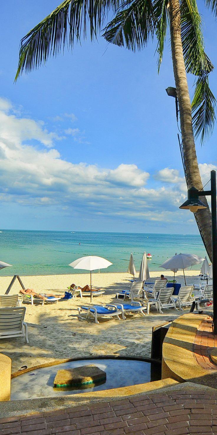 beach front view at Baan Samui Resort at Chaweng Beach, Koh Samui, Thailand