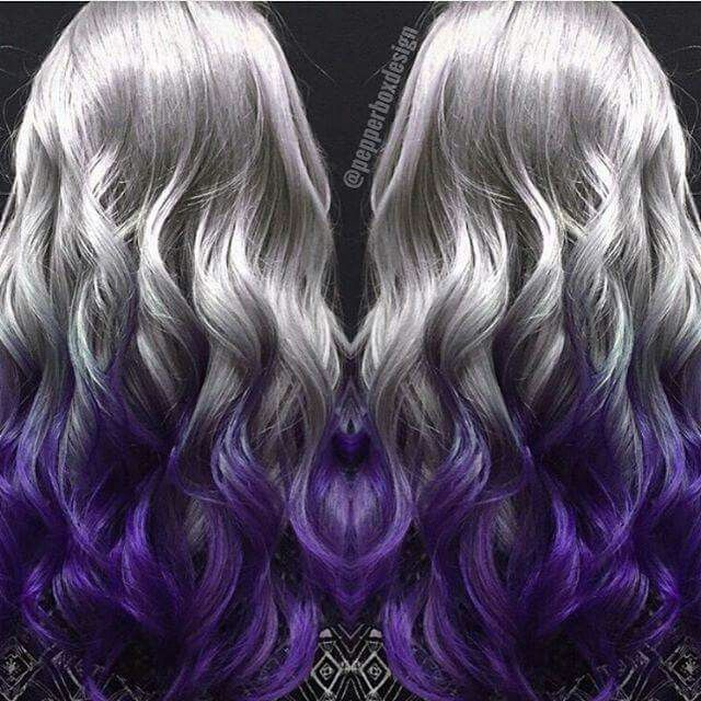 Silver Purple Hair On Pinterest  Hair Hair Colors And Purple Hair