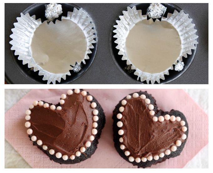 Cómo hacer magdalenas o cupcakes con forma de corazón