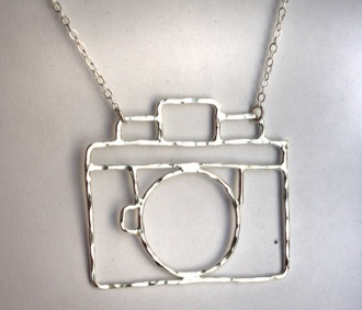 Old Fashioned Camera Necklace by Rachel Pfeffer