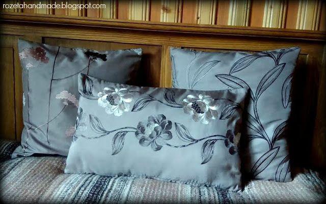Rozeta handmade: poduszki