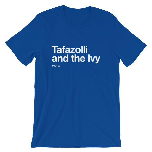 Ryan Tafazolli Peterborough United Christmas Short-Sleeve Unisex T-Shirt  White on Blue    • 100% combed and ring-spun cotton (heather colors contain polyester)  • Fabric weight: 4.2 oz (142 g/m2)  • Shoulder-to-shoulder taping  • Side-seamed