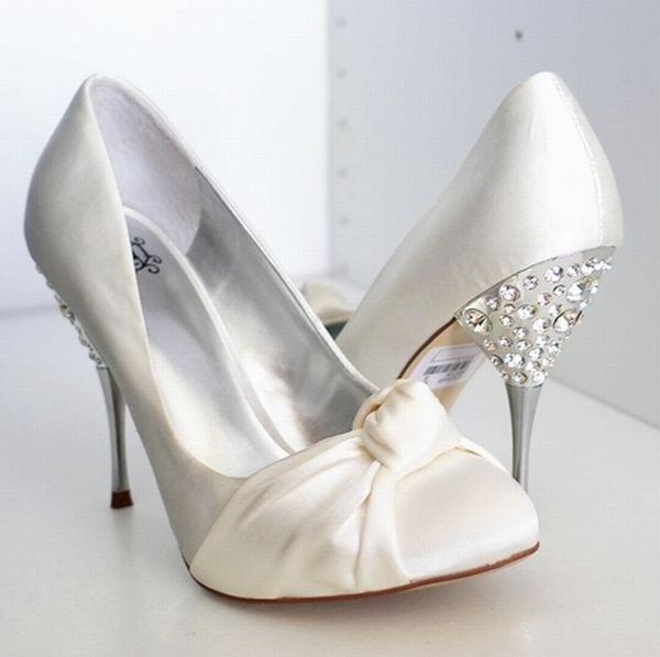 bling ivory wedding shoes | Bling Crystal Faith Bridal Wedding Satin Shoes
