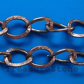 Chain, aluminum, brown, 15x20mm curb
